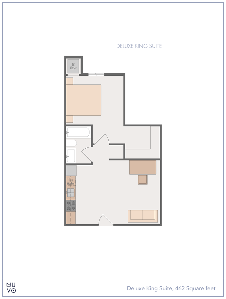 Deluxe King Suite floorplan