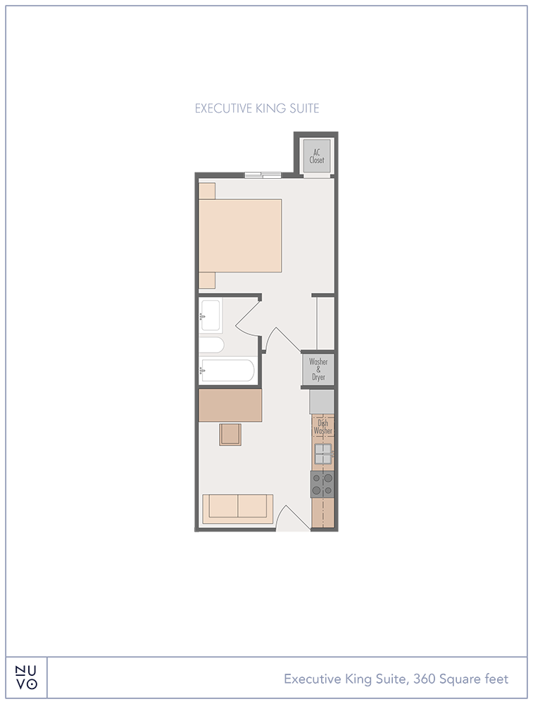 Executive King Suite floorplan