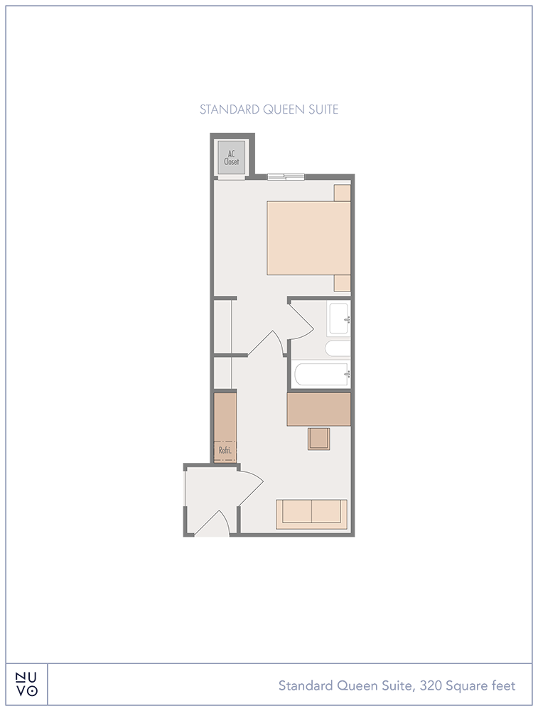 Standard Queen Suite floorplan