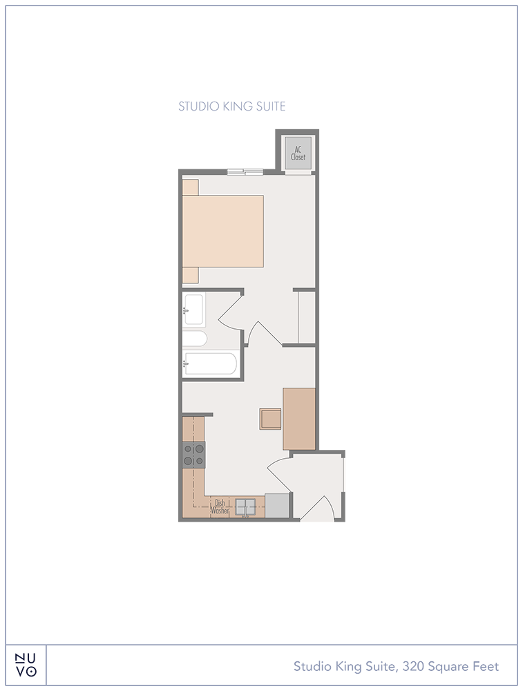 Studio King Suite floorplan