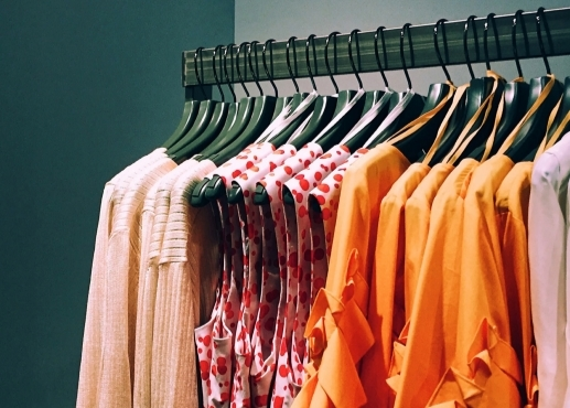 Rack of womens clothes